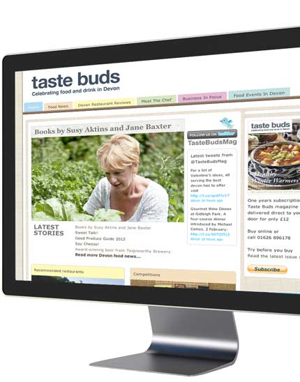 tastebudsmagazine.co.uk - a bespoke website design by We Make Magazines